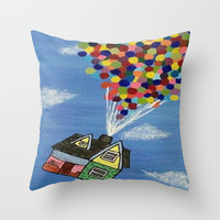 Up Throw Pillow by Sierra Christy Art