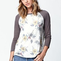 O'Neill Spring Long Sleeve Raglan T-Shirt - Womens Tee - White