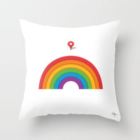 Somewhere Over the Rainbow Throw Pillow by Phil Jones | Society6