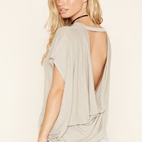 Burnout Cowl-Back Top