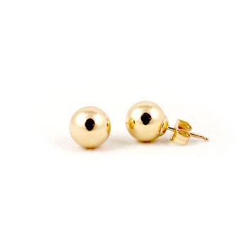 Smooth Spheres Stud Earrings