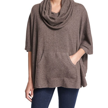 Concorde Cashmere Sweater, Heather Walnut, Size: