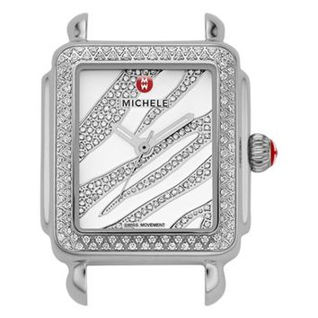 Women's MICHELE 'Deco 16 Diamond' Diamond Dial Watch Case, 29mm x 31mm (Limited Edition)