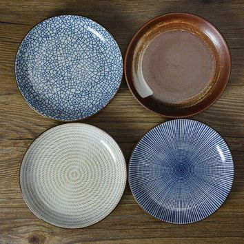 On sale Stripe geometry plate flavoring sauce seasoning dishes saucer 4 patterns/ set ~