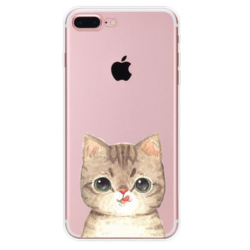 Short Eared Cat iPhone 7 7Plus & iPhone se 5s 6 6 Plus Case Cover +Gift Box-90