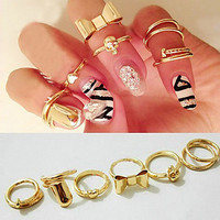 City Lights Rings - Set of 7 Knuckle Rings from P.S. I Love You More Boutique