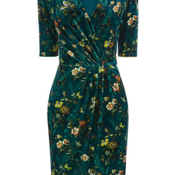 ROSSETTI VELVET WRAP DRESS