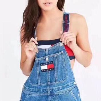 PEAPON Tommy Jeans x Urban Outfitters Fashion Women Romper Jumpsuit Pants