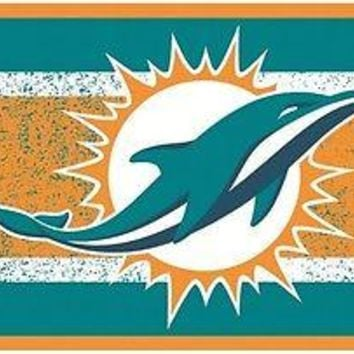 Miami Dolphins VINTAGE Style Deluxe Acrylic Laser Cut License Plate Tag Football