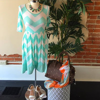 """Right Chevron Time"" Dress"