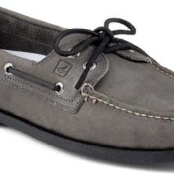 Sperry Top-Sider Authentic Original Echo 2-Eye Boat Shoe Gray, Size 9M  Men's