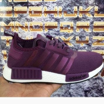 """Adidas"" Women Men Trending NMD Running Sports Shoes Purple"