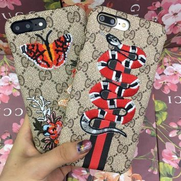 GUCCI : Snake Embroidery New iphone 6 6s 6plus 6s-plus 7 7plus iPhone Phone Cover Case Shell
