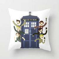 Superwholock Throw Pillow by LookHUMAN
