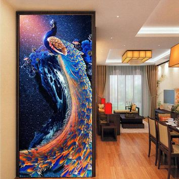 New Craft Painting 5D Diamond Peacock Embroidery Cross Stitch Home Decor Gift