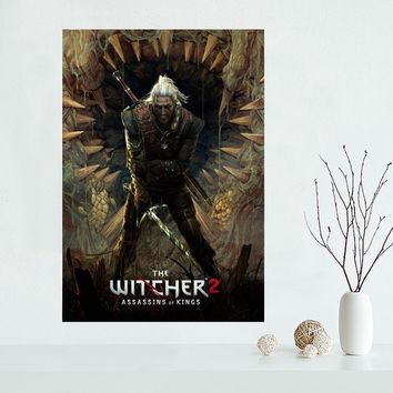 Custom The Witcher Canvas Poster Home Decoration poster cloth fabric Canvas Painting wall poster print