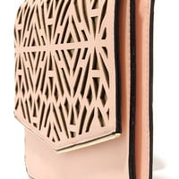 Metallic Touch Gold and Peach Clutch