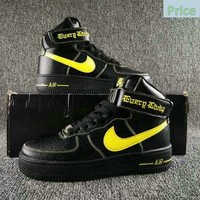 casual shoes ventilated Nike Air Force 1 High Collection VLONE Black Fluorescence green AA536-001 shoe