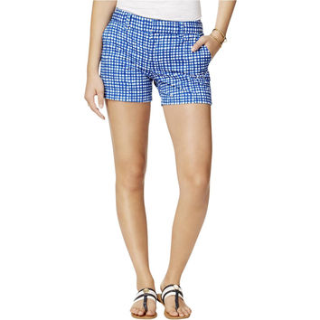 Tommy Hilfiger Womens Twill Printed Khaki, Chino Shorts
