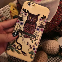 Vintage Retro Owl Case Cover for iphone 6 6s Plus Gift 210