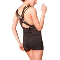 Intimates21 - Sexy Women Fashion Open Back Cowl Neck Party Clubwear Cocktail Lycra Mini Dress One S
