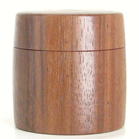 Tiny Walnut Box with Magnetic Lid