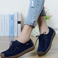 Fashion Women shoes breathable soft solid women casual flat shoes hot sale spring wome