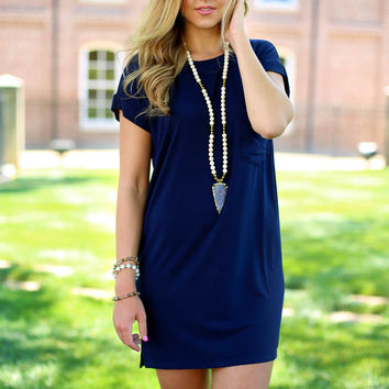 favorite things dress - indigo