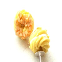 French Cruller Stud Earrings