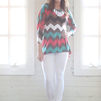 Hot Chevron Mess Top