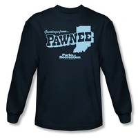 PARKS AND RECREATION GREETINGS FROM PAWNEE LONG SLEEVE T-SHIRT