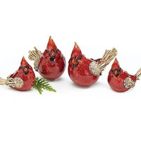 Country Cardinal Bird Figurine