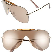 Gucci 99mm Bamboo Shield Sunglasses
