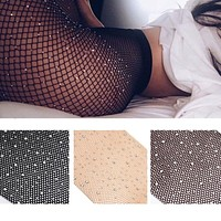 Fishnet Tights Net Crystal Diamond Women Hosiery Body Stocking Pantyhose
