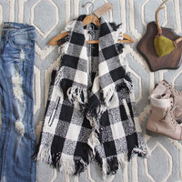 North & West Plaid Vest