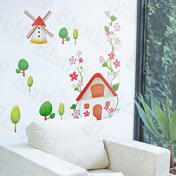 Windmill - Wall Decals Stickers Appliques Home Decor