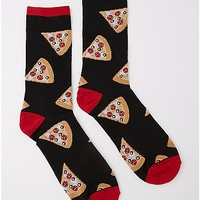 Embroidered Pizza Crew Socks - Spencer's