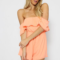 Deni Playsuit - Neon Orange