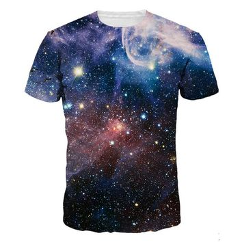 Galaxy Space 3D Printed T-Shirts Men Fashion  Beautiful Graphic Tees Cool For Lovers