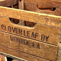 Clover Leaf Wooden Dairy Crate from Monroe LA