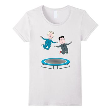 Trump and Kim Jong Un Trampoline t-shirt