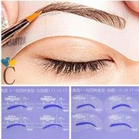 4pcs C Styles Eye Brushes Shadow Brow Painted Eyebrow Pencil Model Template Stencil Makeup Tools DIY Shaping