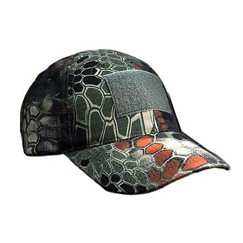 Camouflage Tactical Snapback Baseball Cap | Military | Operator | 3in x 2in Rectangle Velcro