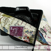 Camera Strap dSLR or SLR, Butterfly, Antique Vintage, Purple Martin, Birdwatcher, 155