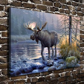 A0712 Greg Alexander Scenery Animal Deer HD Canvas Print Oil Painting Realism Home decoration Living Room Bedroom Wall Art Pictu