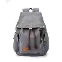 Fashion Backpacks for Men and Women Solid Preppy Style Soft Back Pack Unisex School Bags Big Capicity Canvas Bag F99