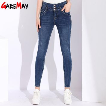 Jeans Women's High Waist Skinny Jeans Woman Plus Size Elastic Casual Womens Black Jeans Female Denim Pants Stretch Pencil Pants