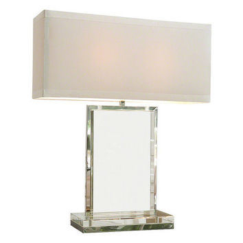 Global Views Crystal Slab Table Lamp