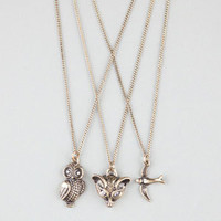 FULL TILT 3 Piece Fox/Owl/Bird Necklaces 220165621 | Necklaces | Tillys.com