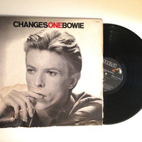 FALL SALE David Bowie ChangesOneBowie LP Album 1984 Compilation Ziggy Stardust Space Oddity Vinyl Record